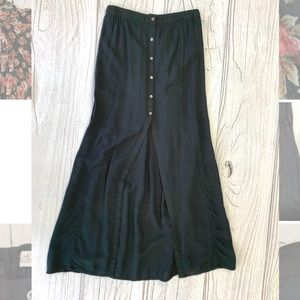 HOLLISTER Black High Waist Button Up Maxi Skirt